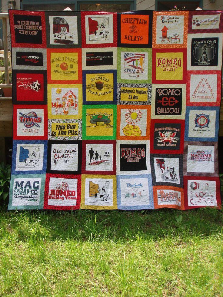 77 best T-shirt Quilts images on Pinterest | Memory quilts, Tee ... : running t shirt quilt - Adamdwight.com