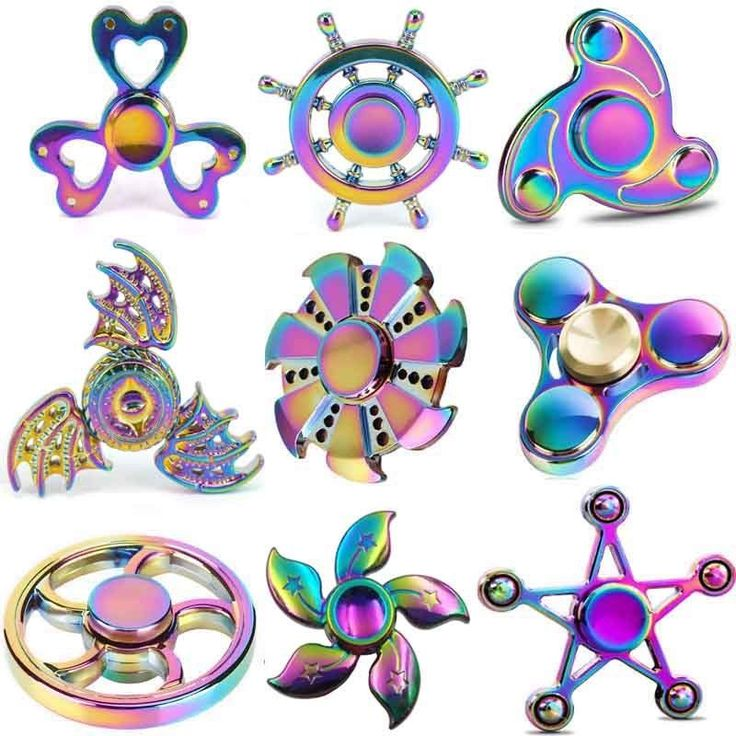 Tremor Spinner Tri-Spinner Colorful Five beeds Star Bat Heart Triangle Wheel Fly #TremorSpinner