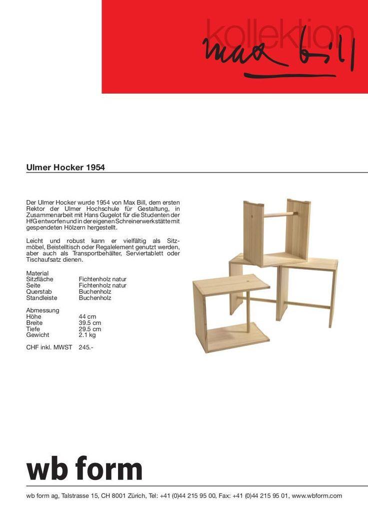 Vitra Ulmer Hocker von Max Bill, 1954 - Designermöbel von smow.de