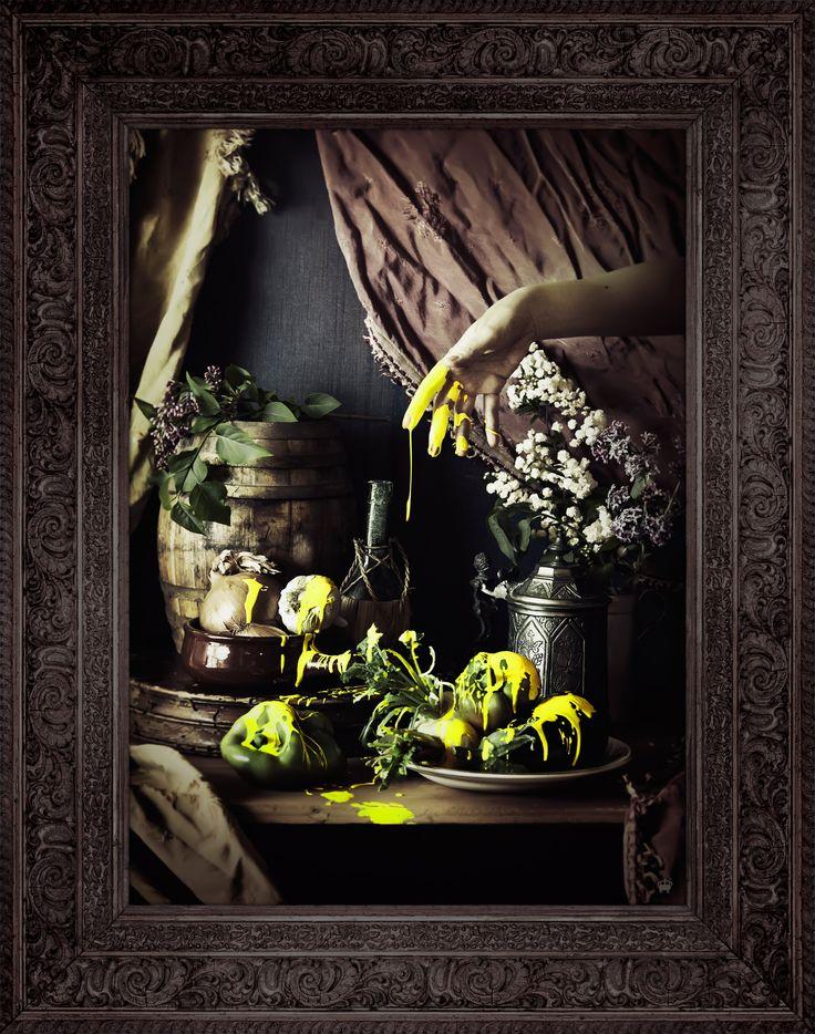 'Strange Fruit' Ornate Framed Canvas Print