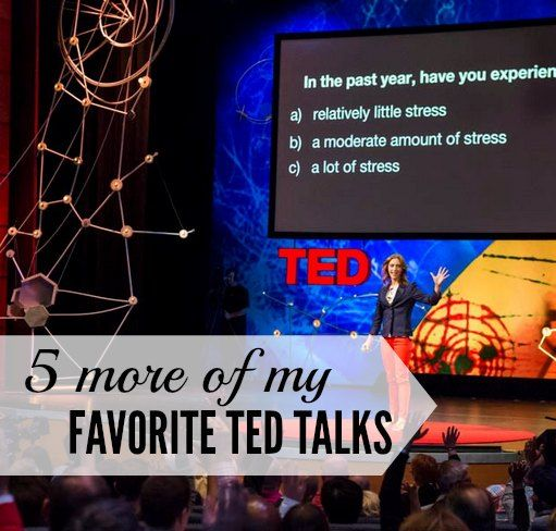 5 more of my favorite TED talks for free inspiration in manageable 19-minute doses. Get inspired or learn something new while you fold laundry or make dinner.