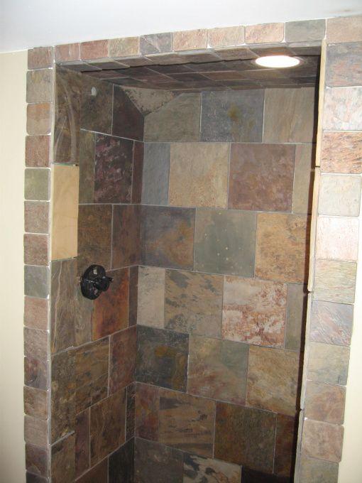 New Slate Bathroom: New Basement Bathroom - Bathroom