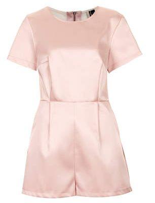 Mesh Satin Pink Playsuit