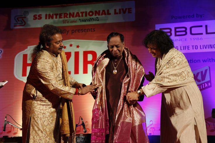Honoured to have M. Balamuralikrishna for the at Hazir2 launch #Chennai
