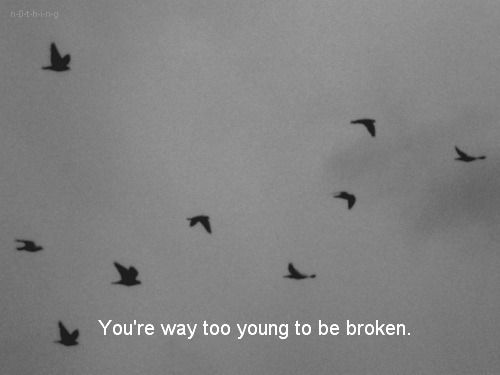 But the truth is everyone is broken. Some just hide it better than others