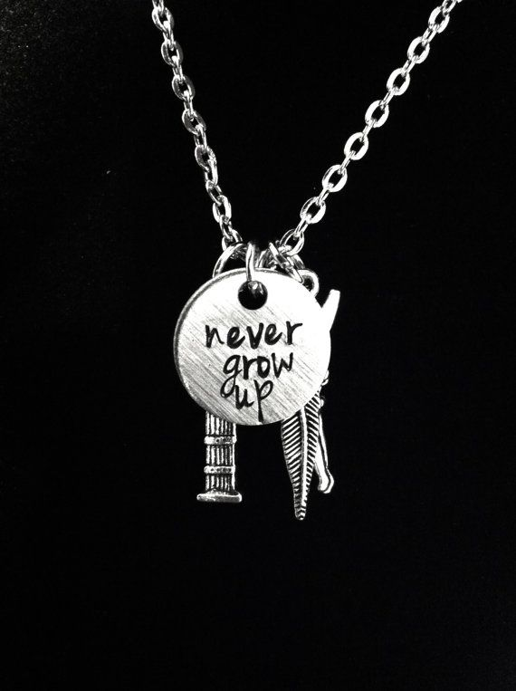 Peter Pan Themed Charm Necklace by byAmandaJane on Etsy, $23.00