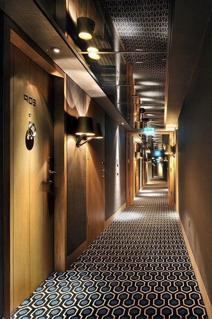 hallway by thompson hotels via flickr corridor hotel On hotel hallway decor