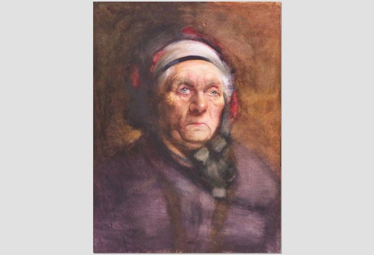'Head of an Old Woman' by Frances Hodgkins.