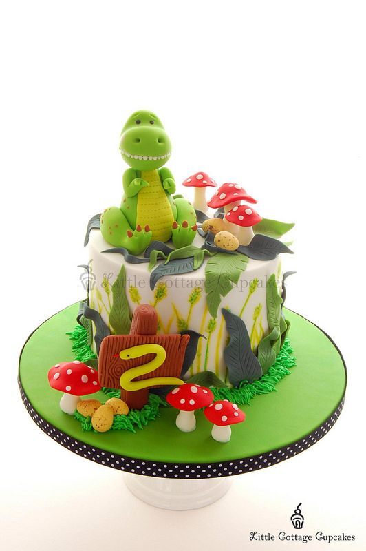 Dinosaur Cake - For all your cake decorating supplies, please visit craftcompany.co.uk