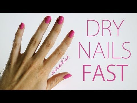 5 ways to dry your nails fast! I always do the first one which really works :)