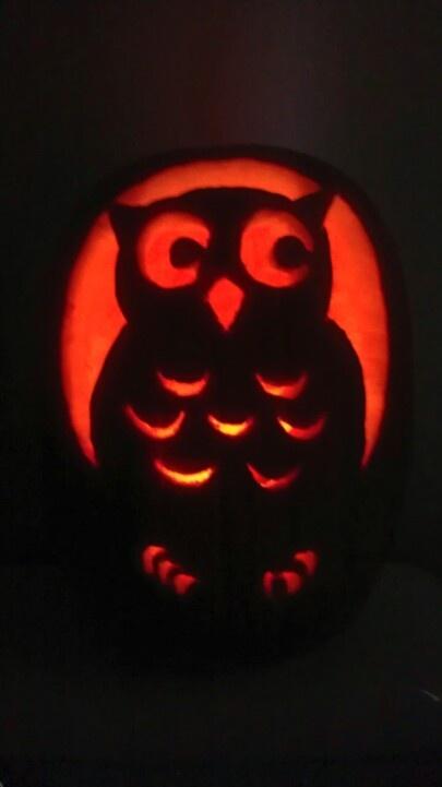 Owl pumpkin halloween and fall pinterest owl pumpkin for Simple owl pumpkin pattern