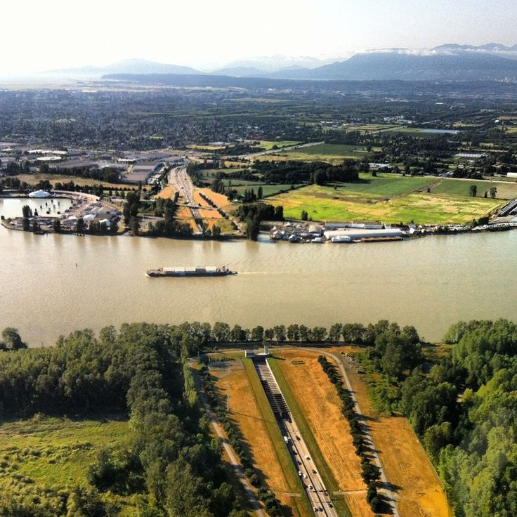 The Massey Tunnel as seen from the sky via Twitter