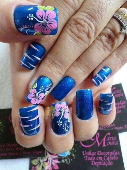 The 25 best tiger stripe nails ideas on pinterest tiger nail royal blue pink green white tiger stripes nail design prinsesfo Choice Image