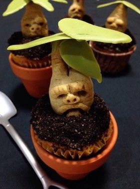Mandrake Cupcake ハロウィン✴︎マンドレイクカップケーキ