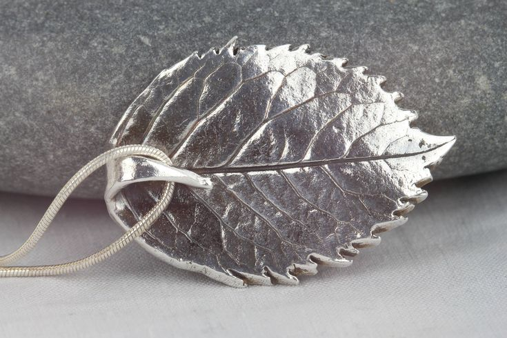 Rose leaf pendant ~ nature inspired necklace ~ pure silver statement jewellery ~ unique gift ~ one of a kind ~ sterling silver chain by AmySquaredJewellery on Etsy https://www.etsy.com/uk/listing/467417781/rose-leaf-pendant-nature-inspired #SterlingSilverCrystals