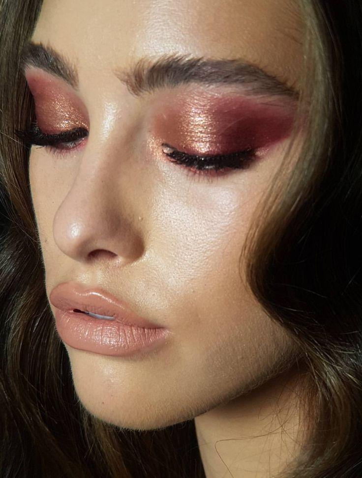 Pinterest: DEBORAHPRAHA ♥️ pink/orange/coral makeup #eyeshadow #tan #pigment