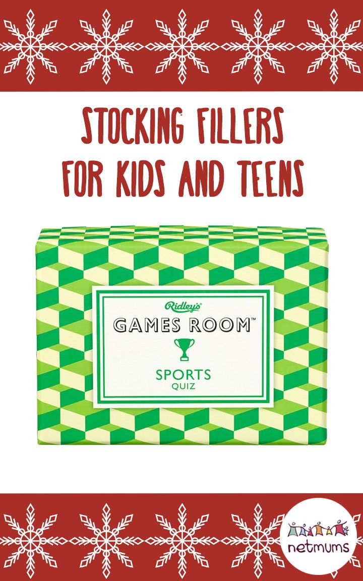 The best stocking fillers for older children and teenagers. We've found a treasure trove of stocking present ideas for you - and none of them cost more than a tenner.