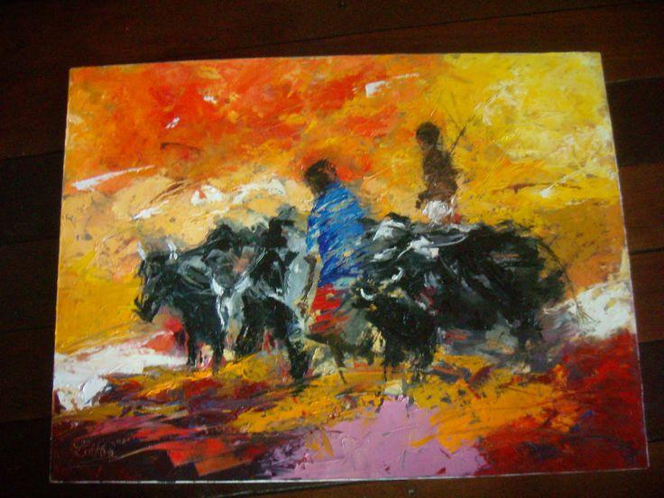 Decoration Cuisine Ustensile : Peinture à lhuile  Lova Aubry (Couleurs malgaches)  Art from