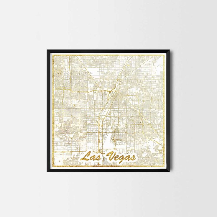 Las Vegas map posters are high quality map art prints of a great city. Perfect for the house and office or as a gift for a friend. Interior gift travel