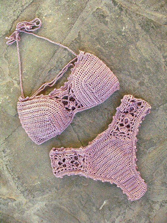 Cute blush pink bikini