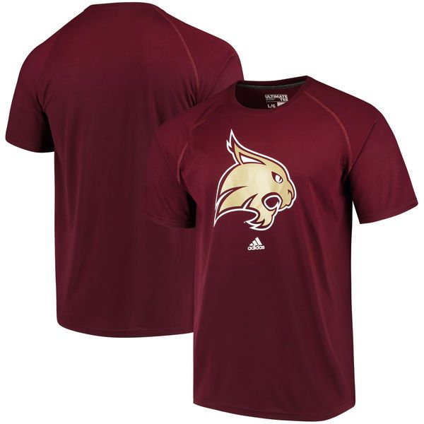 Texas State Bobcats adidas School Logo Ultimate T-Shirt - Maroon - $29.99