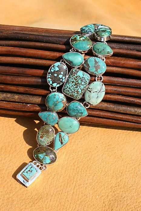 ~ Love The Different Turquoise Stones In This Bracelet...So Unique! ~