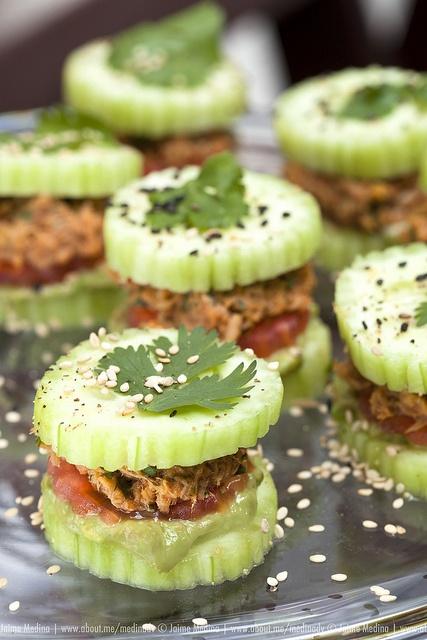 #Food #Photography Cucumber and tuna sandwich