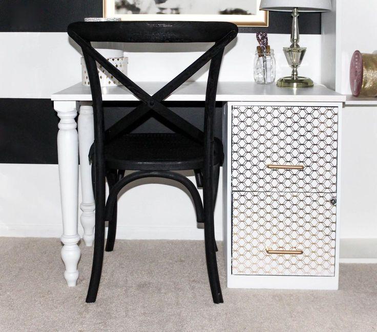 DIY File Cabinet Desk