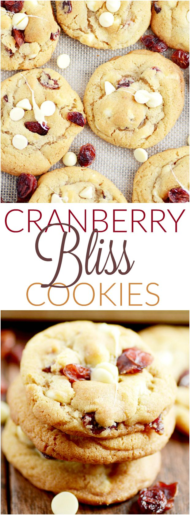 Cranberry Bliss Cookies, a simplified copycat of Starbucks!