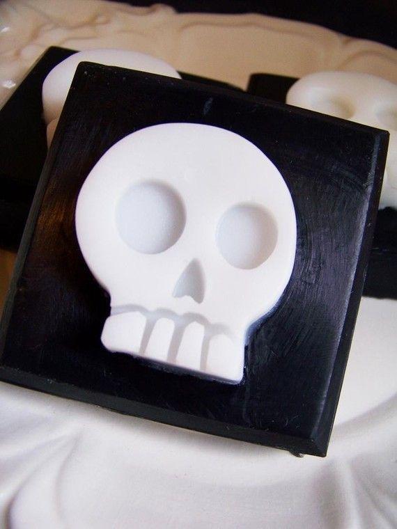Black Cherry Skull Soap Bar