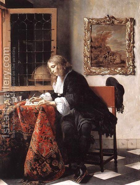 Man Writing a Letter 1662-65 by Gabriel Metsu