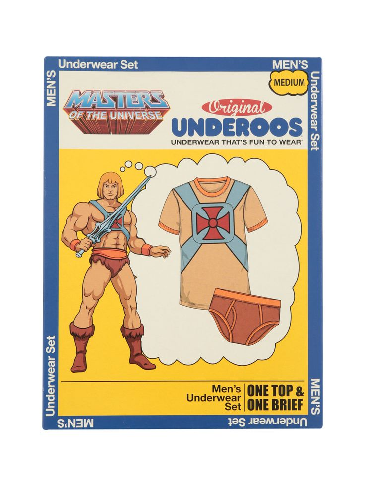 Underoos Masters Of The Universe He-Man Guys Underwear Set,