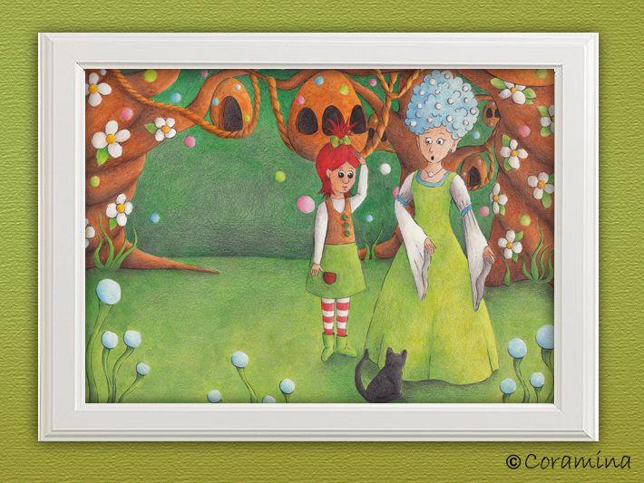 """Kunstdruck """"Feenkönigin"""" limitiert von Coramina - Illustration und Design auf DaWanda.com"""