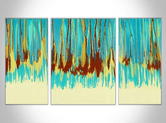Abstrakte Malerei große Gemälde Original-Gemälde von ArielleLeahArt