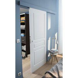 Système coulissant pour porte en bois,Porte seule 3 panneaux 83cm
