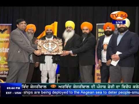 World Sikh Convention In Toronto - Sukhminder Singh Hansra SAD (A)