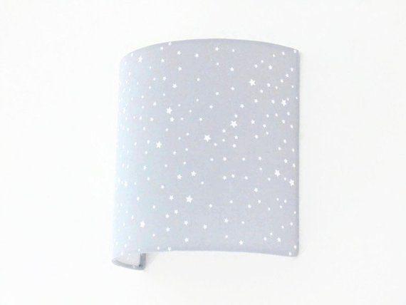 Applique Wall Grey White Stars Half Cylinder Square Half Birthday