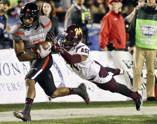 Reginald Davis, FR---one to watch in 2014!  Arizona State vs. Texas Tech - 2013-12-30 - NCAA College Football Score - SI.com