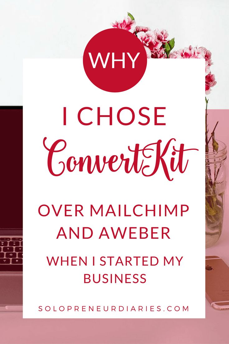 Is email a key part of your marketing strategy? Click through to see why I chose ConvertKit vs MailChimp and AWeber as my email marketing platform when I started my business.