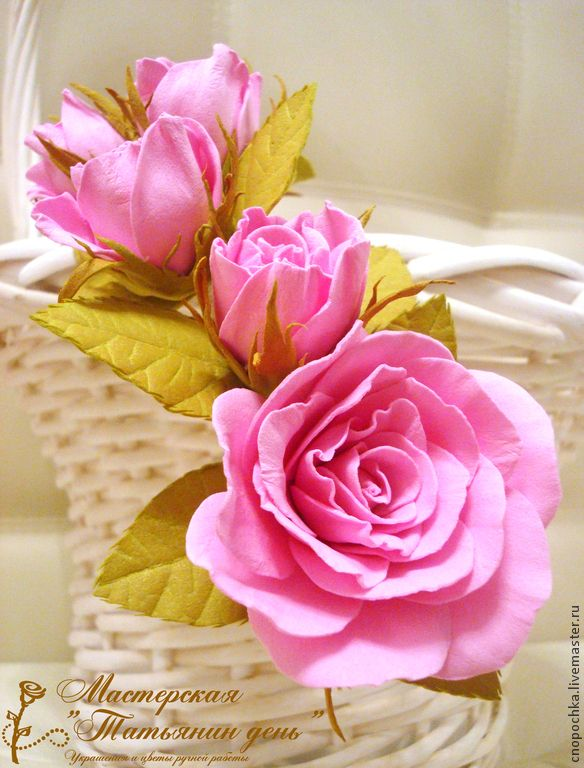 Купить Ободок с нежными розами - розовый, венок, венок из цветов, венок на…