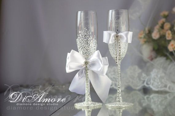 Bride and Groom Winter Wedding  White & Сrystal от DiAmoreDS