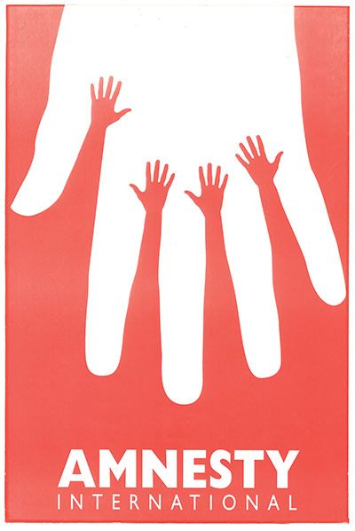 Credit: Amnesty International Design: Amnesty International, 1995 (Israel)A poster for the Israeli branch by graph...