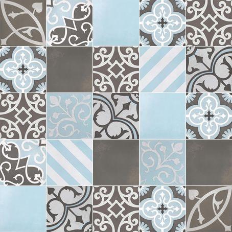 artisan tile Melange Denim / Charcoal C716-26 Melange #26 Chocolate / Sky 1000mm x 1000mm (Set of 25 pieces of 200mm x 200mm tiles)