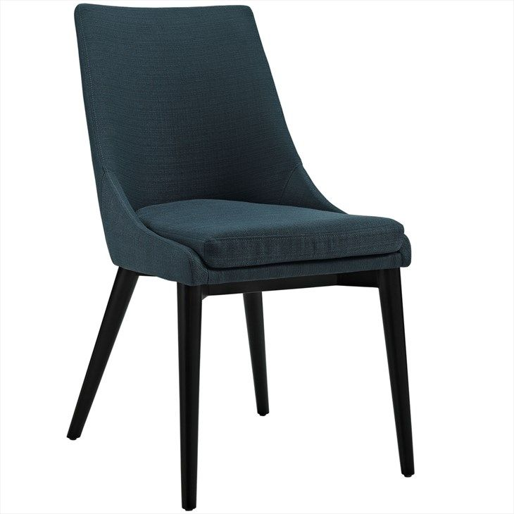 Viscount Fabric Dining Chair in Azure - LexMod