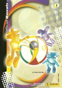 2002 Panini World Cup #3 Official Mascots Back