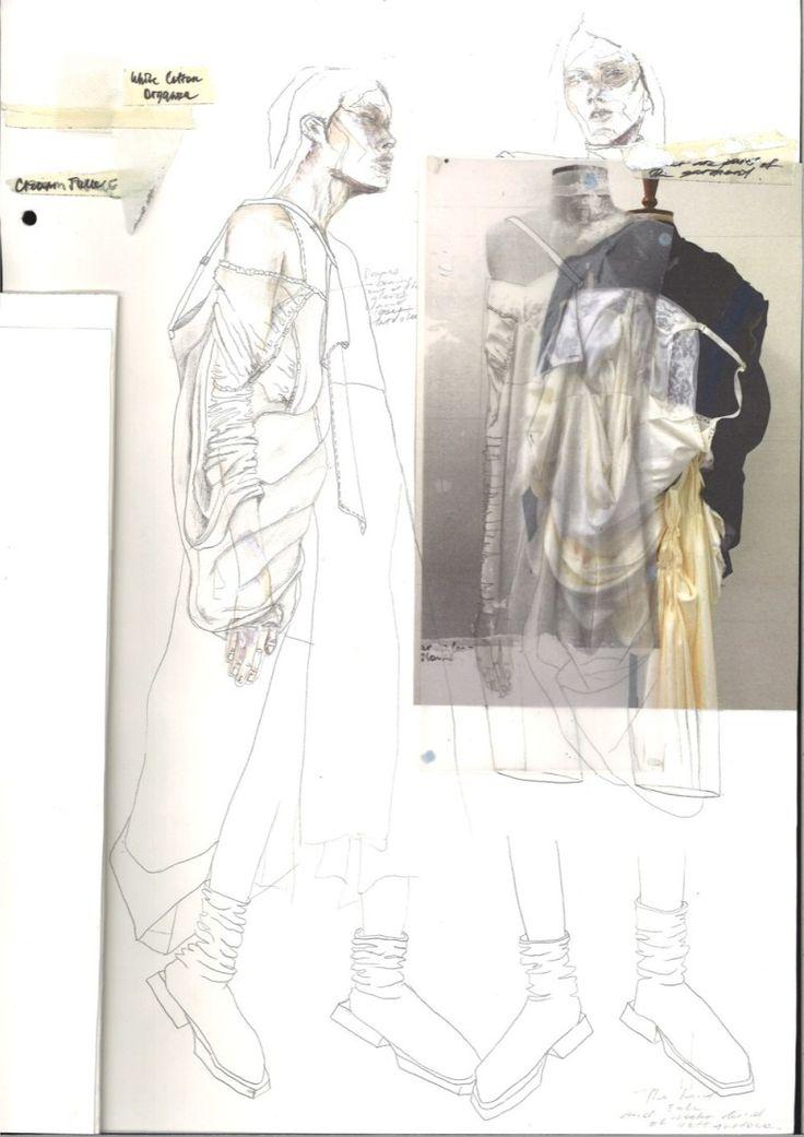 Fashion Sketchbook - fashion drawings; fashion collage; fashion portfolio // Irina Tsoy