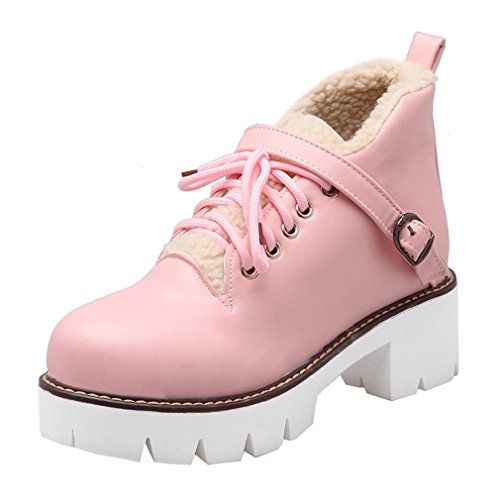 ENMAYERピンク裸ブーツ厚い地殻原宿英国のレトロなレースのブーツマーティン・ショートと厚い女性のブーツのマフィ... https://www.amazon.co.jp/dp/B01MREDBGI/ref=cm_sw_r_pi_dp_x_ReqqybZ51XA7M