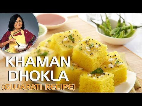 Gujarati Khaman Dhokla With Master Chef Tarla Dalal - YouTube