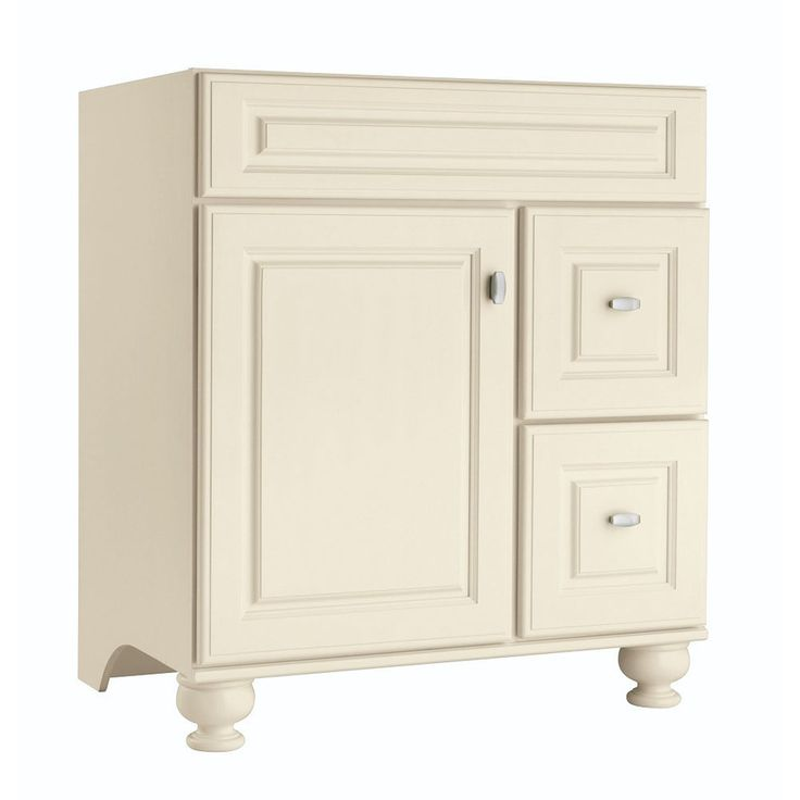 Shop Diamond Britwell Cream Traditional Birch Bathroom Vanity (Common: 30-in x 21-in; Actual: 30-in x 21-in) at Lowes.com