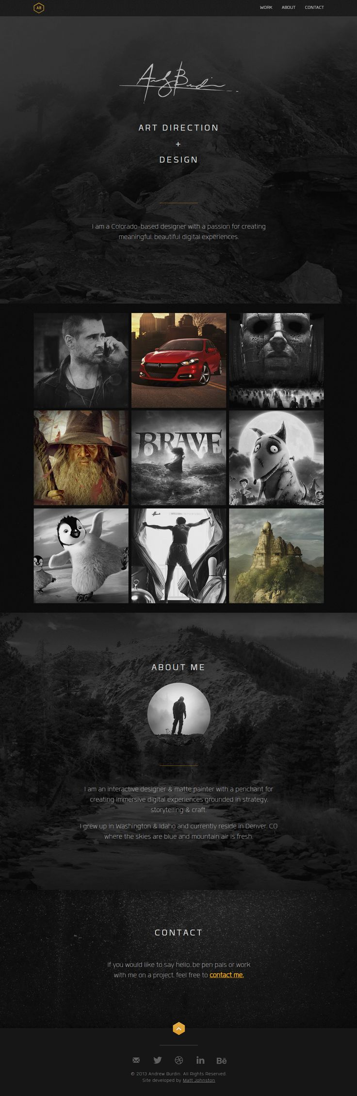 Andrew Burdin. Cool and simple portfolio site. #webdesign #design #portfolio